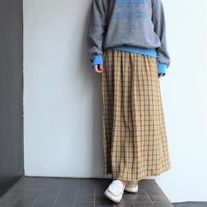 Made in Denmark Yellow plaid skirt