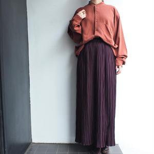 Stand collar Brown shirt