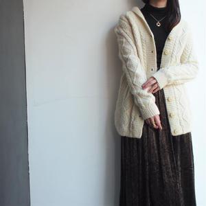 White  low gauge knit cardigan
