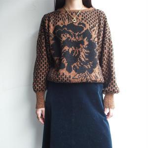 Brown  drop shoulder knit