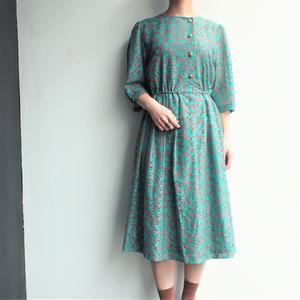 All lace  Green leaf dress