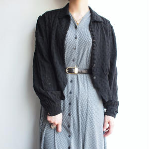 1930's France antique black blouse