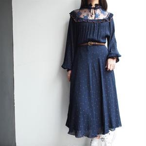 Stand collar drape sleeve Dress
