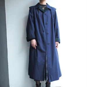 Made in Denmark  green checked deep blue coat