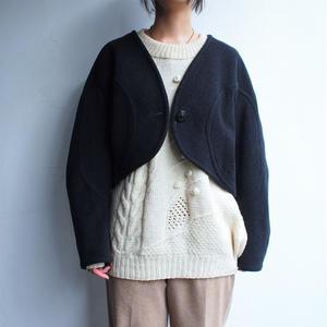 No collar Wool jacket