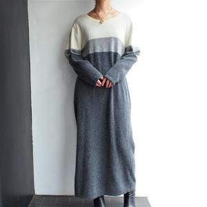 Wool&Angora long knit dress