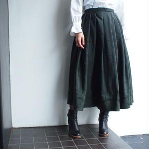 1950's 1960's Jacquard dot pleats skirt