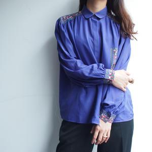 Purple blue blouse
