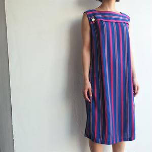 Blue×Red stripe dress