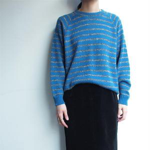 Blue border knit