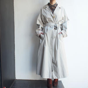 Made in Great Britain 【Laura Ashley】 Cotton trench coat