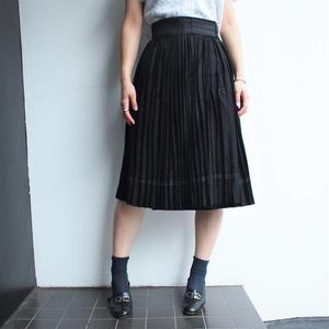 Black all pleats skirts