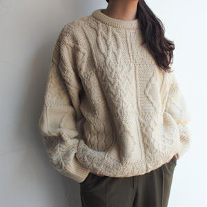 Made in Ireland fisherman knit