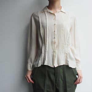 1920's  antique  pin  tuck  silk  blouse