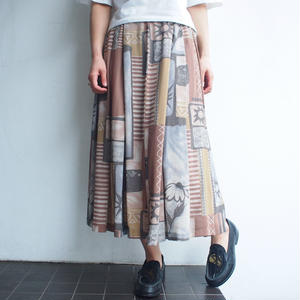 Wall painting skirt