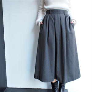 Gray flea wool long  skrit