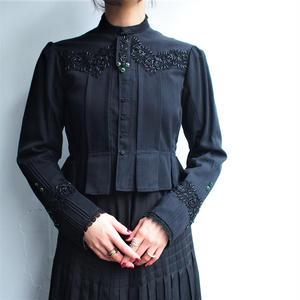 ~1940's Black bijou Antique jacket