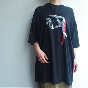Elephant sequin long Tshirt