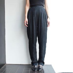 SILK Black paisley Pants