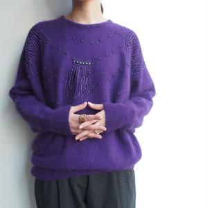 Angola Purple knit