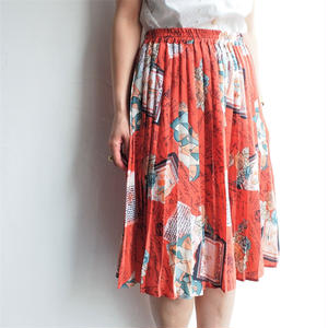 Latter scarf pleats skirt