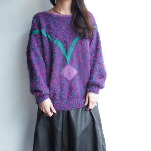 Purple Mix knit