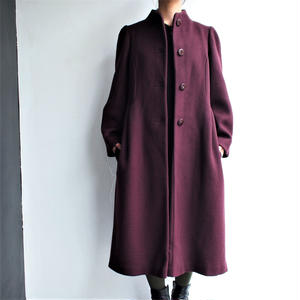Stand collar flare wool coat