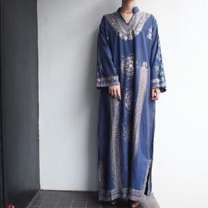Grayish blue embroidery dress