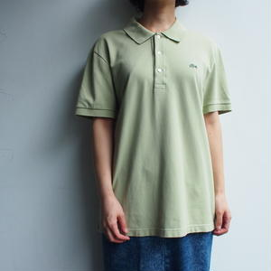 LACOSTE Polo Shirt  bright green