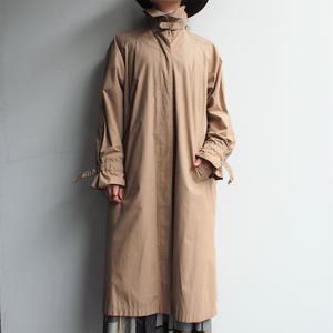 3way collar beige long coat