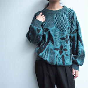 Made in Italy Green×Black Knit