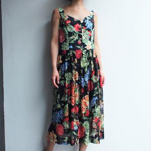 Black Flower print dress