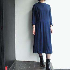 1960's deep blue wool dress