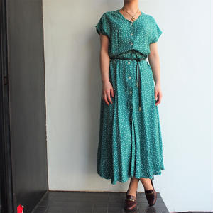 Green Dot 前開き釦 one-piece coat
