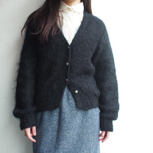 Made in Italy mohair 混 black knit
