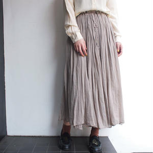 India cotton  gather long skirt