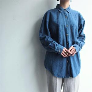 Linen Cotton  breast pocket shirt