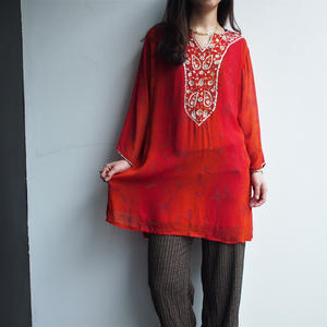 Red ×Gold Blouse