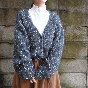 Mix knit cardigan