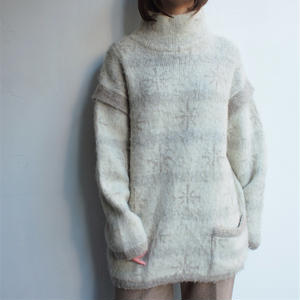 Made in Iceland high neck wool knit