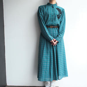 Made in W.Germany Green plaid Dress
