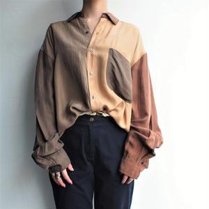 Silk Tri color long blouse