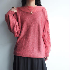 Salmon pink Angola knit