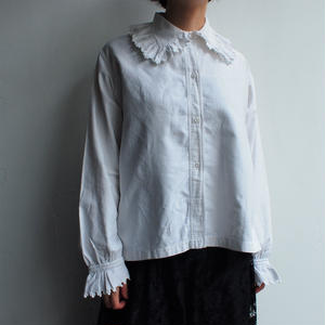 Early 1900's France antique cotton blouse