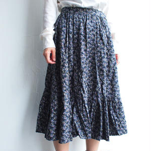 flower tiered skirt