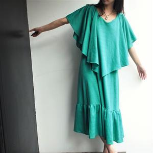 Green dress one-piece