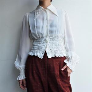 Waist shirring 70's blouse