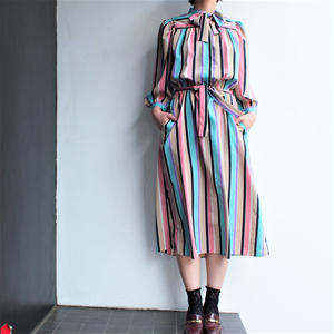 Pastel striped one piece