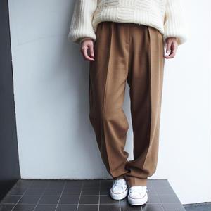 worsted wool tuck pants