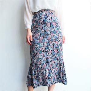 Cotton flower print skirt